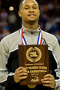 Jeremiah Jefferson (15) of Dallas Triple A Academy received the UIL 1A Division 1 Tournament MVP after defeating Mumford in the UIL 1A division 1 state championship game at the Frank Erwin Center in Austin on Saturday, March 9, 2013. (Cooper Neill/The Dallas Morning News)
