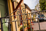 Doll House gate in the historic district in St. Augustine, Florida. St Augustine is the oldest city in America.