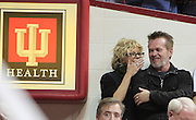 Actress Meg Ryan and Musician John Mellencamp liked the way things were going for the Hoosiers in the final seconds of the game Saturday night in Bloomington. Indiana and Ohio State faced off at Assembly Hall Saturday, December 31, 2011. (Mike Fender / The Star)