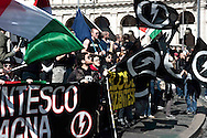"Roma 7 Maggio 2010.Manifestazione, «Giovinezza al potere», organizzata dai movimenti di estrema destra,, Casapound, e Blocco Studentesco, per presentare la candidatura dei rappresentanti alle prossime elezioni universitarie..Rome May 7, 2010.Demonstration, ""Youth to Power,"" organized by far-right movements,, Casapound and Block Student to present the candidature of university representatives at the next election."