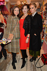 LONDON, ENGLAND 1 DECEMBER 2016:Left to right, Sophie Ellis-Bextor, Jasmine Guinness, Laura Bailey at the 10th birthday party for the toy shop HoneyJam, 2 Blenheim Crescent, Notting Hill, London, England. 1 December 2016.