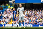 Everton (9) Sandro Ramírez during the Premier League match between Chelsea and Everton at Stamford Bridge, London, England on 27 August 2017. Photo by Sebastian Frej.