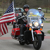57 members of the Patriot Guard escorted the bus full of Vietnam veterans from Jackson to Tupelo Saturday for he Operation Grateful Nation