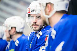 Jurij Repe during Ice Hockey match between National teams of Slovenia and Belarus at International tournament Euro ice hockey Challenge 2019, on February 9, 2019 in Ice Arena Bled, Slovenia. Photo by Peter Podobnik / Sportida