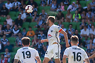 MELBOURNE, VIC - JANUARY 20: Wellington Phoenix defender Andrew Durante (22) heads the ball during the Hyundai A-League Round 14 soccer match between Melbourne Victory and Wellington Phoenix at AAMI Park in VIC, Australia on 20th January 2019. Image by (Speed Media/Icon Sportswire)
