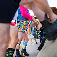 LOS ANGELES, CA - January 10, 2016 - Dossier: No Pants Metro Ride 2016. For the 8th year in a row, GuerilLA will be participating in Improv Everywhere's international mission, NO PANTS SUBWAY RIDE. Started in North Hollywood, rode the Red line to Union station.