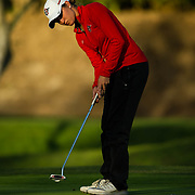 20 March 2017: The San Diego State Aztecs women's golf team hosts it's 5th annual March Mayhem tournament at The Farms Golf Club. SDSU took on Fresno State in the second round of match play and are even with play being suspended for the night.<br /> www.sdsuaztecphotos.com