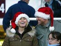 Photo: Chris Ratcliffe.<br />West Ham United v Newcastle United. The Barclays Premiership. 17/12/2005.<br />West Ham fans get in the festive mood at Upton Park.