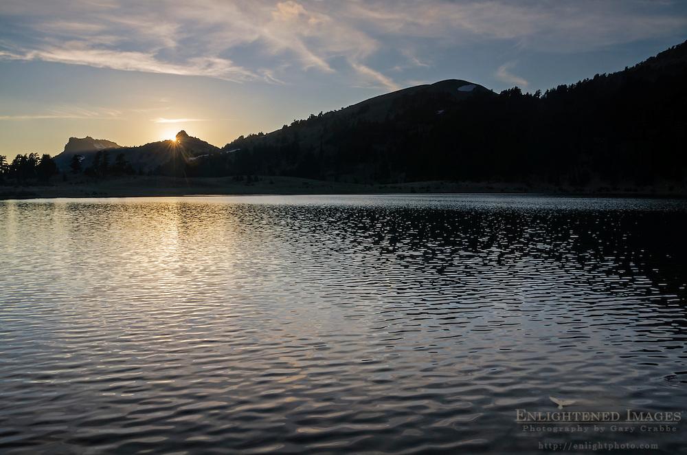 Sunset over Lake Helen, Lassen Volcanic National Park, California