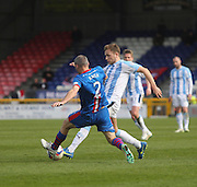 Dundee's Greg Stewart and Inverness Caley Thistle's David Raven - Inverness v Dundee  - SPFL Premiership at the Caledonian Stadium<br /> <br />  - © David Young - www.davidyoungphoto.co.uk - email: davidyoungphoto@gmail.com