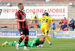 Billy Bodin of Bristol Rovers goes to celebrates- - Mandatory byline: Neil Brookman/JMP - 07966 386802 - 03/10/2015 - FOOTBALL - Globe Arena - Morecambe, England - Morecambe FC v Bristol Rovers - Sky Bet League Two