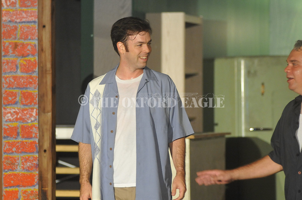 """Greg Earnest plays Greg as Theatre Oxford rehearses """"A Streetcar Named Desire"""" in Oxford, Miss. on Monday, August 22, 2011."""
