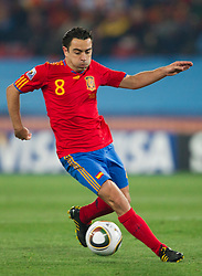 Xavi of Spain during the 2010 FIFA World Cup South Africa Group H Second Round match between Spain and Honduras on June 21, 2010 at Ellis Park Stadium, Johannesburg, South Africa.  Spain defeated Honduras 2-0. (Photo by Vid Ponikvar / Sportida)