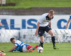 Cowdenbeath's Lewis Milne and Falkirk's Jay Fulton.<br /> Cowdenbeath 1 v 0 Falkirk, 14/9/2013.<br /> &copy;Michael Schofield.