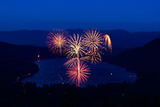 July 4 fireworks show at Donner Lake in Truckee, California, 2018.