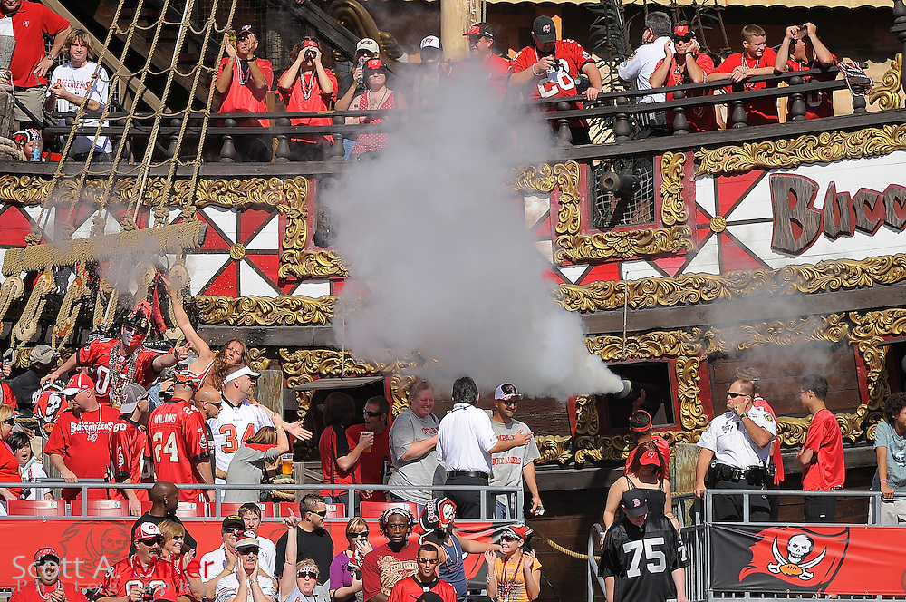 Tampa, Fl: Dec 28, 2008 -- General view of the Pirate Ship during the Tampa Bay Buccaneers game against the Oakland Raiders at Raymond James Stadium....©2008 Scott A. Miller
