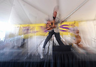 People dressed as Elvis take part at18th annual Elvis Festival to mark the 40th anniversary of the King of Rock N' Roll, Elvis Presley's death, on Sunday August 27, 2017 in Garden Grove, California.(Photo by Ringo Chiu)<br /> <br /> Usage Notes: This content is intended for editorial use only. For other uses, additional clearances may be required.