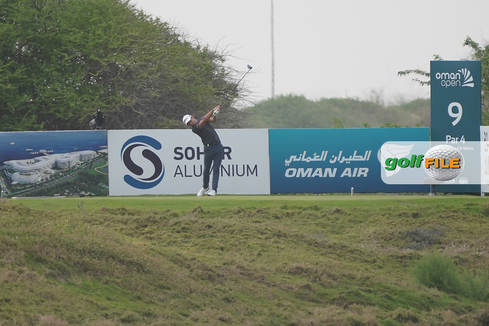 Joakim Lagergren (SWE) on the 9th during Round 1 of the Oman Open 2020 at the Al Mouj Golf Club, Muscat, Oman . 27/02/2020<br /> Picture: Golffile | Thos Caffrey<br /> <br /> <br /> All photo usage must carry mandatory copyright credit (© Golffile | Thos Caffrey)