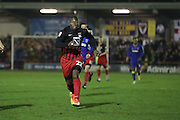 Coventry City forward Yakubu Ayegbini (22) makes a return to English Football during the EFL Sky Bet League 1 match between AFC Wimbledon and Coventry City at the Cherry Red Records Stadium, Kingston, England on 14 February 2017. Photo by Stuart Butcher.