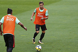 October 8, 2017 - Lisboa, Portugal - Portugueses defenders Bruno Alves and Cedric Soares during National Team Training session before the match between Portugal and Switzerland at Luz Stadium in Lisbon on October 8, 2017. ....(Photo by Luis Moreira/NurPhoto) (Credit Image: © Filipe Amorim/NurPhoto via ZUMA Press)