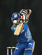 Ahmed Shehzad of Nagenahira Nagas straight drives a delivery during match 5 of the Sri Lankan Premier League between Kandurata Warriors and Nagenahira Nagas held at the Premadasa Stadium in Colombo, Sri Lanka on the 13th August 2012<br />  <br /> Photo by Shaun Roy/SPORTZPICS/SLPL