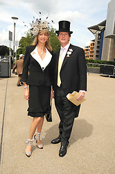 MR & MRS GUY SANGSTER at the 1st day of the 2008 Royal Ascot racing festival on 17th June 2008.<br /><br />NON EXCLUSIVE - WORLD RIGHTS