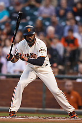 SAN FRANCISCO, CA - APRIL 18: Denard Span #2 of the San Francisco Giants tosses his bat after drawing a walk against the Arizona Diamondbacks during the first inning at AT&T Park on April 18, 2016 in San Francisco, California. The Arizona Diamondbacks defeated the San Francisco Giants 9-7 in 11 innings.  (Photo by Jason O. Watson/Getty Images) *** Local Caption *** Denard Span