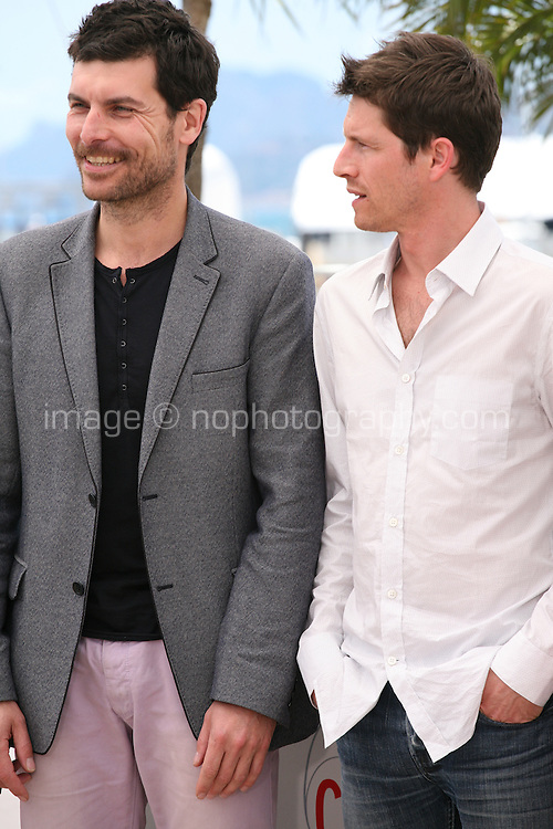 Christophe Paou, Pierre Deladonchamps. at the L'inconnu Du Lac film photocall at the Cannes Film Festival 17th May 2013