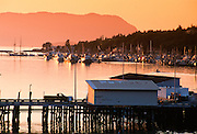 Alaska. Sitka. Sunset on Sitka Channel.