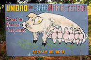 Farm sign near Horquita, Cienfuegos, Cuba.