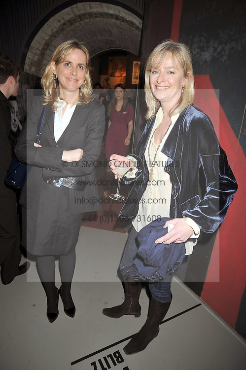 Left to right, the HON.SOPHIE MONTGOMERY and KATIE RABBET at a party to celebrate the opening of Topolski Century held at The Arches, Hungerford Bridge, London SE1 on 16th March 2009.