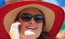 LONDON, ENGLAND - Wednesday, July 2, 2014: A spectator during the Ladies' Singles Quarter-Final match on day nine of the Wimbledon Lawn Tennis Championships at the All England Lawn Tennis and Croquet Club. (Pic by David Rawcliffe/Propaganda)