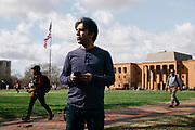 STARKVILLE, MS – FEBRUARY 1, 2017: Ashkan Khalili is an Iranian student at Mississippi State University studying aerospace engineering, set to graduate in May. His permit to remain in the United States will expire after graduation, and Ashkan says he doesn't want to stay here illegally. He wants to stay here and work and pay back what he got from his education. He and his wife made a life here, and it would be very hard to rebuild somewhere else. CREDIT: Bob Miller for The New York Times