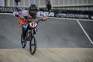 #42 (SCHIPPERS Jay) NED at Round 2 of the 2019 UCI BMX Supercross World Cup in Manchester, Great Britain