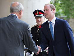 Image ©Licensed to i-Images Picture Agency. 17/07/2014. London, United Kingdom. Prince William, Duke of Cambridge, visits the IWM. Prince William, The Duke of Cambridge arrives at<br /> Imperial War Museum in London<br /> to open its new First World War Galleries in a new summer exhibition. Imperial War Museums. Picture by Daniel Leal-Olivas / i-Images