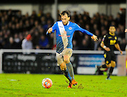 Eastleigh's Josh Payne during the The FA Cup third round match between Eastleigh and Bolton Wanderers at Silverlake Stadium, Ten Acres, Eastleigh, United Kingdom on 9 January 2016. Photo by Graham Hunt.