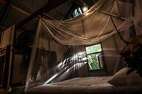 Inside of bungalow Crusoe, at Little Corn Beach & Bungalow, on east side of Little corn Island, Nicaragua. Copyright 2017 Reid McNally.