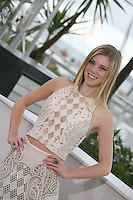 Claire Julien, actress, at the Bling Ring film photocall at the Cannes Film Festival 16th May 2013. The Bling Ring is directed by Sofia Coppola and in Un Certain Regard category of the festival.
