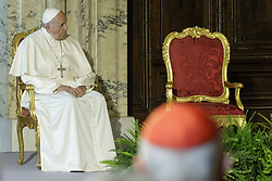 June 10, 2017 - Rome, Italy - Pope Francis makes a visit to the President of the Italian Republic Sergio Mattarella at the Quirinale Palace in Rome, Italy on June 10, 2017. (Credit Image: © Giuseppe Ciccia/Pacific Press via ZUMA Wire)
