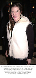 The HON.SELINA TOLLEMACHE daughter of Lord Tollemache, at a party in London on 14th January 2002. 	OWL 172