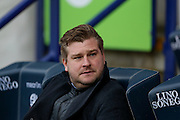 MK Dons manager Karl Robinson during the Sky Bet Championship match between Bolton Wanderers and Milton Keynes Dons at the Macron Stadium, Bolton, England on 23 January 2016. Photo by Simon Davies.