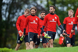 CARDIFF, WALES - Friday, September 2, 2016: Wales' Hal Robson-Kanu during a training session at the Vale Resort ahead of the 2018 FIFA World Cup Qualifying Group D match against Moldova. (Pic by David Rawcliffe/Propaganda)