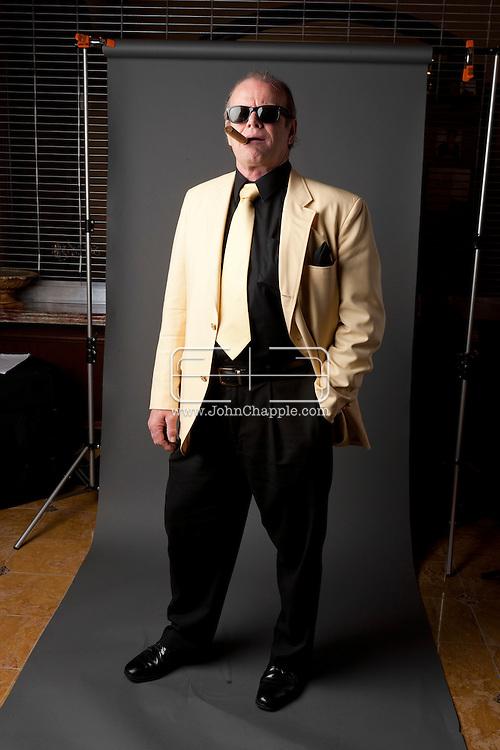 "24th February 2011. Las Vegas, Nevada.  Celebrity Impersonators from around the globe were in Las Vegas for the 20th Annual Reel Awards Show. Pictured is R.L. ""Jack"" Bullard as Jack Nicholson. Photo © John Chapple / www.johnchapple.com.."