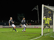 Dundee&rsquo;s Kane Hemmings fires home his side's second goal  - Dundee v Falkirk, William Hill Scottish Cup Fourth Round at Dens Park <br /> <br />  - &copy; David Young - www.davidyoungphoto.co.uk - email: davidyoungphoto@gmail.com