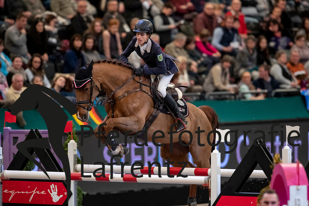 JÜNGEL Marvin (GER), Balous Erbin<br /> Leipzig - Partner Pferd 2019<br /> IDEE Kaffe Preis<br /> CSI5*<br /> 18. Januar 2019<br /> © www.sportfotos-lafrentz.de/Stefan Lafrentz