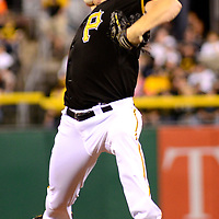 Pittsburgh Pirates relief pitcher Mark Melancon (35) throws in the ninth inning and records the lose in the Milwaukee Brewers 1-0 win over the Pittsburgh Pirates at PNC Park in Pittsburgh, on September 20, 2014.  UPI/Archie Carpenter