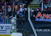 KELOWNA, CANADA - SEPTEMBER 29:  Orchard Park Zamboni Rider at the Kelowna Rockets game on September 29, 2017 at Prospera Place in Kelowna, British Columbia, Canada.  (Photo By Cindy Rogers/Nyasa Photography,  *** Local Caption ***