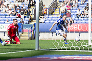 Ipswich Town forward Kayden Jackson goes past  the Bolton goal keeper to score the second goal for Ipswich Town during the EFL Sky Bet League 1 match between Bolton Wanderers and Ipswich Town at the University of  Bolton Stadium, Bolton, England on 24 August 2019.