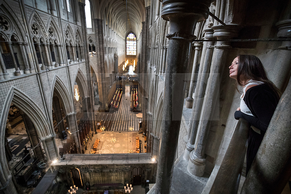 © Licensed to London News Pictures. 29/05/2018. London, UK. The view from the new Queen's Diamond Jubilee Galleries of Westminster Abbey is now open to the public for the first time. The recently finished galleries situated in 13th century triforium, 52 feet above the abbey floor, will display treasures not seen by the public before and tell the story of abbey's thousand-year history. Photo credit: Peter Macdiarmid/LNP