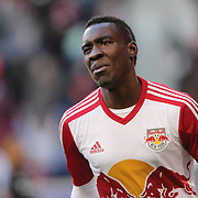 Lloyd Sam, New York Red Bulls, after scoring during the New York Red Bulls Vs D.C. United Major League Soccer regular season match at Red Bull Arena, Harrison, New Jersey. USA. 22nd March 2015. Photo Tim Clayton